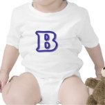 Monograma B en el azul 3D Camiseta