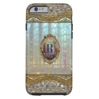 Monograma barroco 6/6s de Veraspeece Funda De iPhone 6 Tough