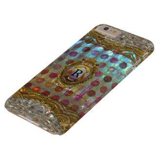 Monograma barroco de Veraspolka más Funda Para iPhone 6 Plus Barely There
