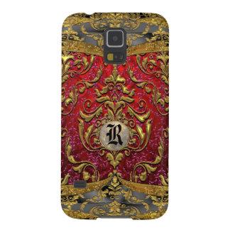 Monograma barroco del damasco de Ufaycicle Fundas Para Galaxy S5