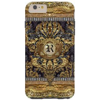 Monograma barroco elegante real 6/6s de Dashford Funda De iPhone 6 Plus Tough