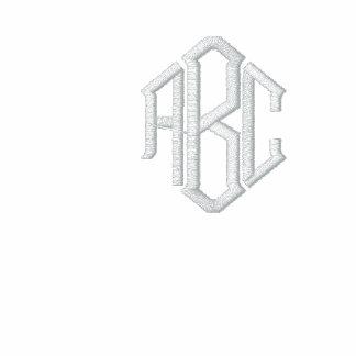 Monograma básico del negro de la sudadera con capu
