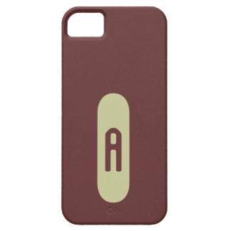 Monograma beige de plantilla personalizada de iPhone 5 carcasa