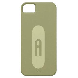 Monograma beige de plantilla personalizada de iPhone 5 carcasas