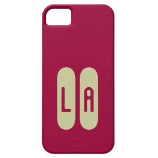 Monograma beige de plantilla personalizada de iPhone 5 funda