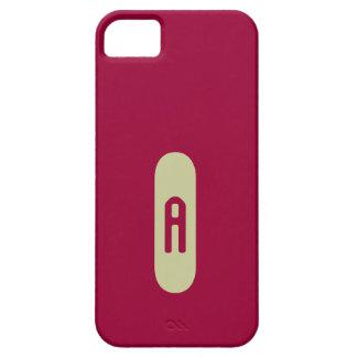 Monograma beige de plantilla personalizada de iPhone 5 fundas
