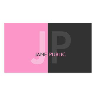 Monograma bicolor moderno básico plantillas de tarjetas de visita
