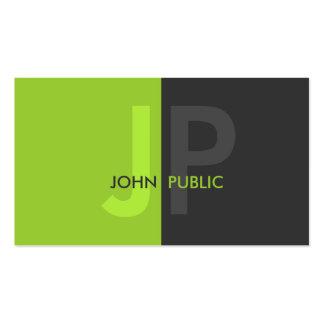 Monograma bicolor moderno básico plantillas de tarjeta de negocio