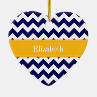 Monograma blanco del nombre de la vara de oro de adorno de cerámica en forma de corazón