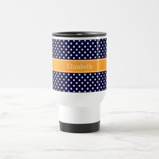 Monograma blanco del nombre del cantalupo de los tazas de café