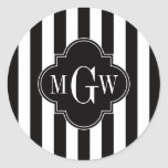 Monograma blanco negro de Quatrefoil 3 del negro d
