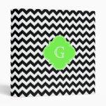 Monograma blanco negro de Quatrefoil de la verde