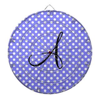 Monograma blanco purpúreo claro de los lunares tablero dardos