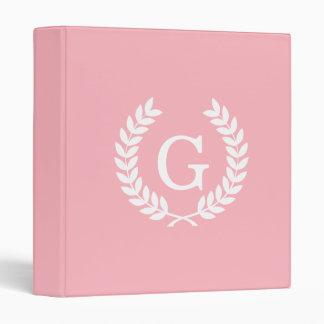"Monograma blanco rosado de la inicial de la carpeta 1"""