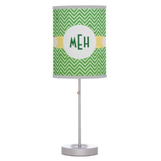 Monograma blanco verde del personalizado del model lámpara de mesilla de noche