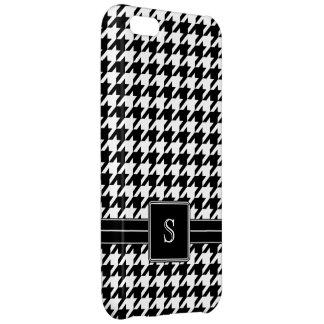Monograma blanco y negro del modelo de Houndstooth