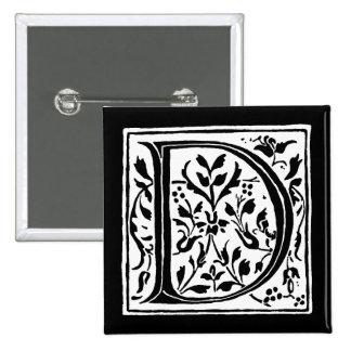 Monograma blanco y negro del monograma de la letra pins