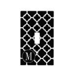 Monograma blanco y negro del personalizado del mod tapas para interruptores