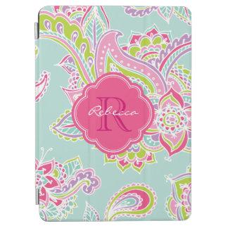 Monograma bohemio del personalizado de Paisley Cover De iPad Air