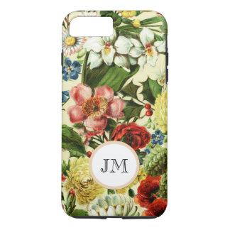 Monograma botánico del jardín del verano del funda iPhone 7 plus