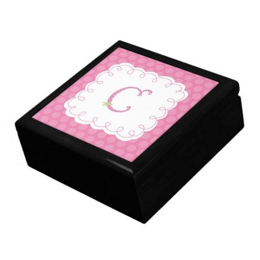 Monograma C de Cutie de la polca Cajas De Regalo