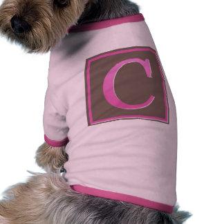 monograma c camiseta con mangas para perro