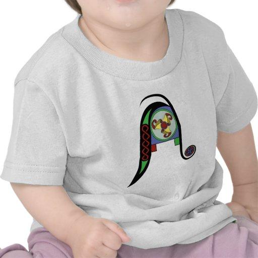 Monograma céltico A Camisetas
