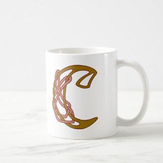 Monograma céltico C de la inicial de la letra del Taza De Café