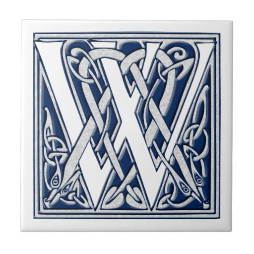 Monograma céltico de W Azulejos