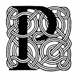 Monograma céltico del nudo del vintage de la letra escultura fotografica