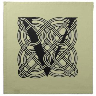 Monograma céltico del nudo del vintage de la letra servilleta de papel