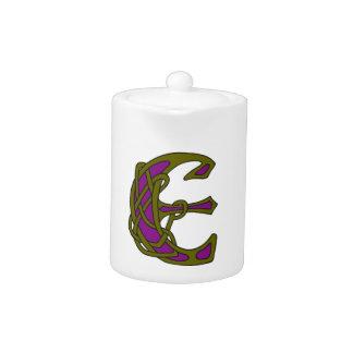 Monograma céltico E de la inicial de la letra del