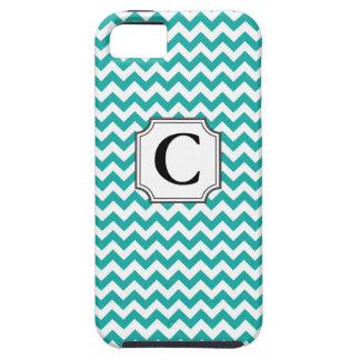 Monograma Chevron - caso del iPhone iPhone 5 Case-Mate Carcasas