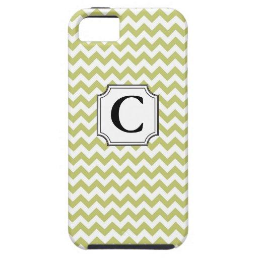 Monograma Chevron - caso del iPhone iPhone 5 Funda