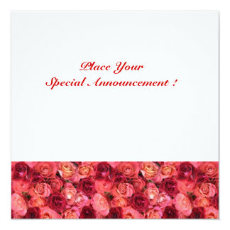 MONOGRAMA COLOR DE ROSA del CAMPO, blanco rosado Comunicado Personal