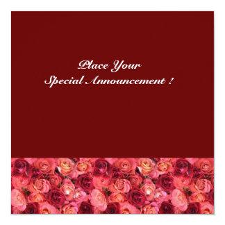 MONOGRAMA COLOR DE ROSA del CAMPO, rosa rojo Anuncio Personalizado
