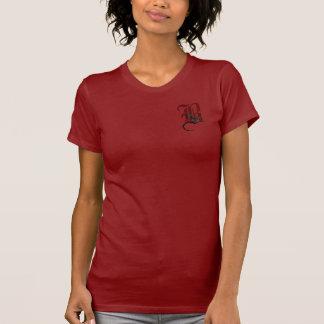 Monograma color de rosa gótico B Camisetas