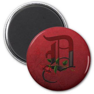 Monograma color de rosa gótico D Iman