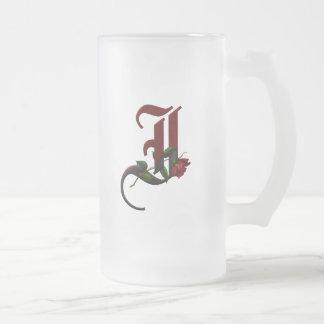 Monograma color de rosa gótico I Tazas