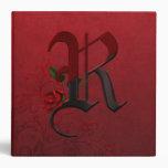 Monograma color de rosa gótico R