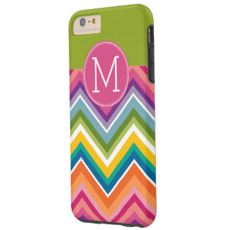 Monograma colorido de moda del personalizado del funda de iPhone 6 plus tough