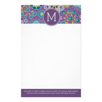 Monograma colorido enrrollado del personalizado  papeleria de diseño