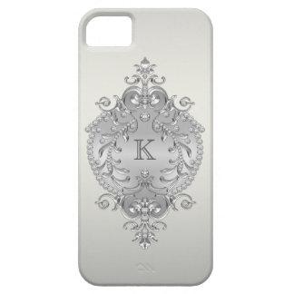 Monograma con clase, adornado de los diamantes iPhone 5 carcasas
