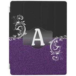 Monograma con clase del Flourish del falso brillo Cubierta De iPad