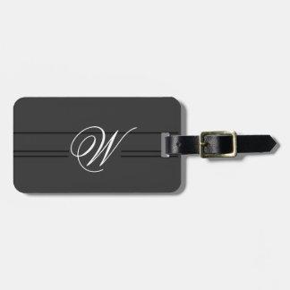 Monograma con clase simple de la etiqueta del equi etiquetas para equipaje