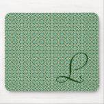 Monograma con fondo de mosaico marroquí alfombrilla de ratón