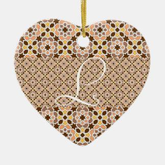 Monograma con mosaico de azulejos de Marruecos Ornatos