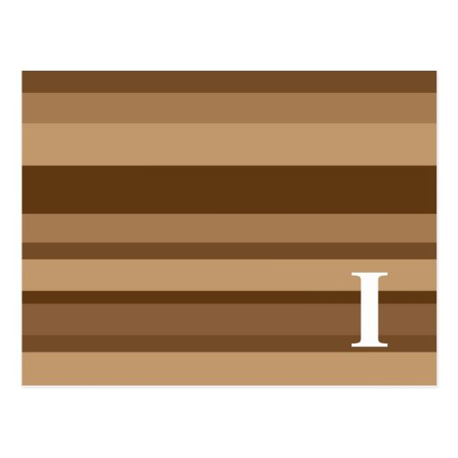 Monograma con un fondo rayado colorido - I Postal