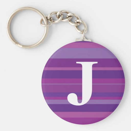 Monograma con un fondo rayado colorido - J Llaveros Personalizados