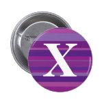 Monograma con un fondo rayado colorido - X Pins
